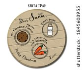 santa tray vector illustration. ... | Shutterstock .eps vector #1845603955