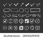 check signs sketch  voting... | Shutterstock . vector #1845639445