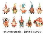 Gnome Characters. Cute Festive...