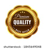 premium quality gold badge.... | Shutterstock .eps vector #1845649048