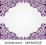 vector vintage baroque scroll... | Shutterstock .eps vector #184566518