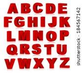 3d font  vector illustration. | Shutterstock .eps vector #184567142