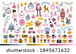 big christmas set for a...   Shutterstock .eps vector #1845671632