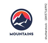 stylized mountains vector icon... | Shutterstock .eps vector #1845716992