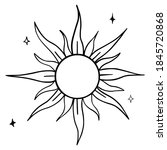 hand drawn vector isolated  sun....   Shutterstock .eps vector #1845720868