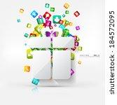 application button.social media.... | Shutterstock .eps vector #184572095