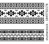 aztec navajo geometric seamless ... | Shutterstock .eps vector #1845732178