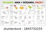 asia plus oceania. 20 vector...   Shutterstock .eps vector #1845733255