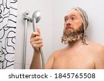 Confused Bearded Man With Soap...