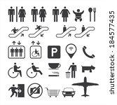 public icons set  | Shutterstock .eps vector #184577435