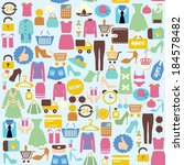 seamless vector background with ... | Shutterstock .eps vector #184578482