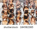 shish kebab on a stick | Shutterstock . vector #184582385