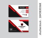 red business card design... | Shutterstock . vector #1845830368