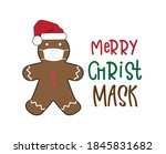 merry quarantine christmas and... | Shutterstock .eps vector #1845831682