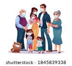 big family parents ... | Shutterstock .eps vector #1845839338