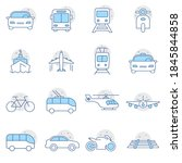 simple set of transport... | Shutterstock .eps vector #1845844858