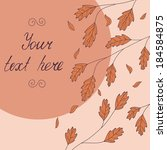 template with orange autumn... | Shutterstock .eps vector #184584875