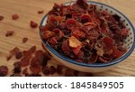 Close Up Of Dried Rose Hip For...