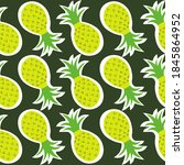 exotic fruits  hand drawn... | Shutterstock .eps vector #1845864952