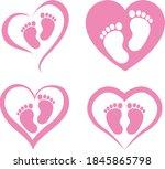 Heart Baby Feet Isolated On...