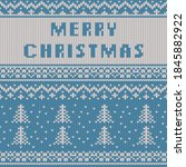 christmas and new year knitted...   Shutterstock .eps vector #1845882922