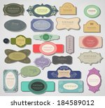set retro vintage ribbons and... | Shutterstock .eps vector #184589012