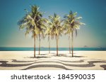 Palms On Copacabana Beach In...