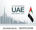 49 uae arabic national day...   Shutterstock .eps vector #1845915448