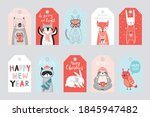 cute gift tags with woodland...   Shutterstock .eps vector #1845947482