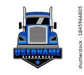 semi truck logo design vector   Shutterstock .eps vector #1845966805