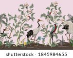 border in chinoiserie style... | Shutterstock .eps vector #1845984655