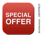 special offer icon  | Shutterstock . vector #184599815