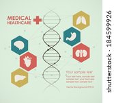 medical health care background. ... | Shutterstock .eps vector #184599926
