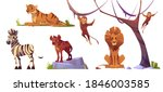 cartoon wild animals tiger ... | Shutterstock .eps vector #1846003585