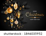 horizontal banner with gold... | Shutterstock .eps vector #1846035952