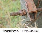 Old Long Rusty Brown Iron...