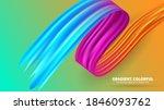 color brushstroke oil or... | Shutterstock .eps vector #1846093762