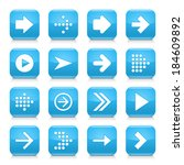 16 arrow icon set 01. white... | Shutterstock .eps vector #184609892