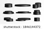 set of black circle base.... | Shutterstock .eps vector #1846144372
