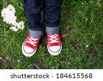 Sneakers On A Kids Feet