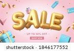 3d illustration of sale banner...   Shutterstock . vector #1846177552