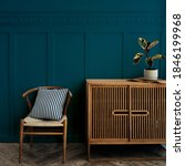 scandinavian vintage wood... | Shutterstock . vector #1846199968