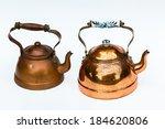 copper kettle pots vintage... | Shutterstock . vector #184620806