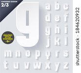 modern flat alphabet for... | Shutterstock .eps vector #184620932