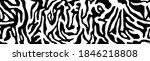 zebra fur   stripe skin  animal ... | Shutterstock .eps vector #1846218808