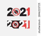 2021 happy new year logo text... | Shutterstock .eps vector #1846223725