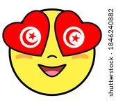 Tunisia Flag Button. Patriotic...