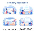 new company registration set.... | Shutterstock .eps vector #1846252705