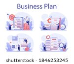 business plan concept set. idea ... | Shutterstock .eps vector #1846253245
