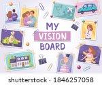 vision board cartoon poster... | Shutterstock .eps vector #1846257058